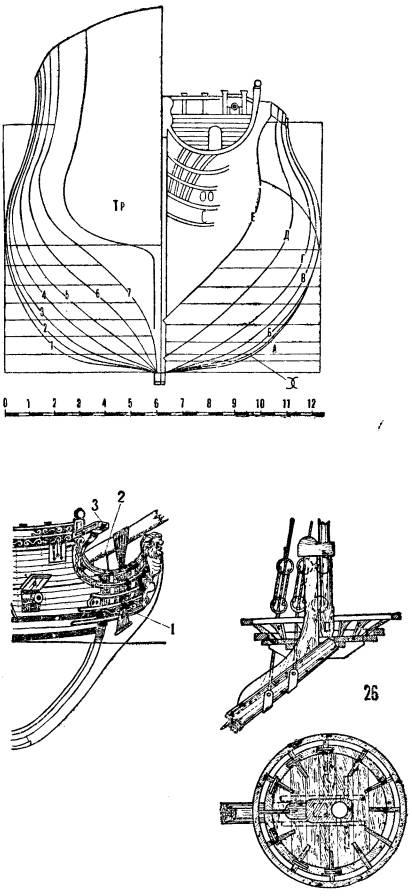 Схемы чертежи парусных кораблей