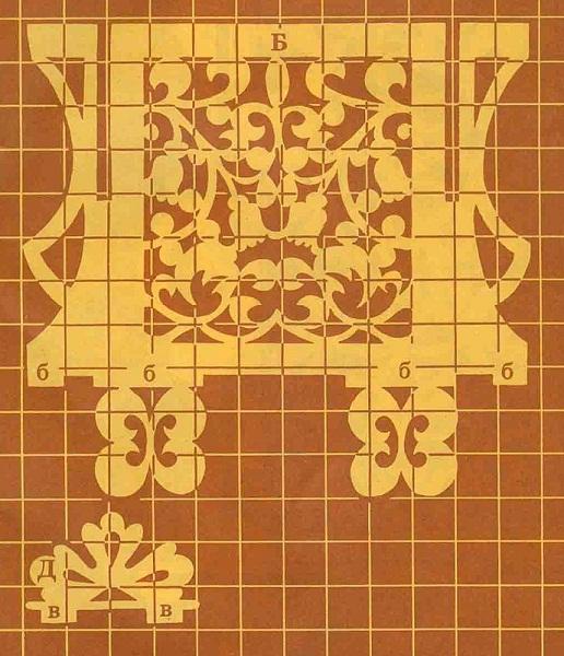 При нанесении вами чертежа на фанеру, обратите внимание на ширину пазов в деталях, она должна быть не менее ширины...