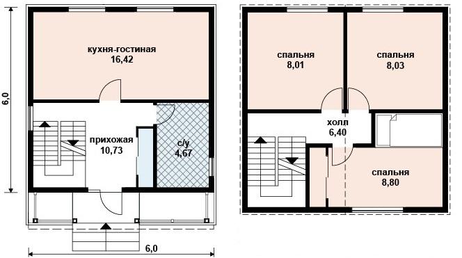Проекты домов 7 на 8 с чертежами