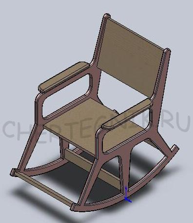 Из чего сделать кресло качалку