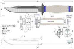 Форма клинка ножа чертеж