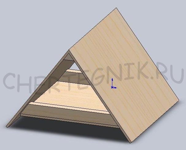 Домик из картона для поделки своими руками