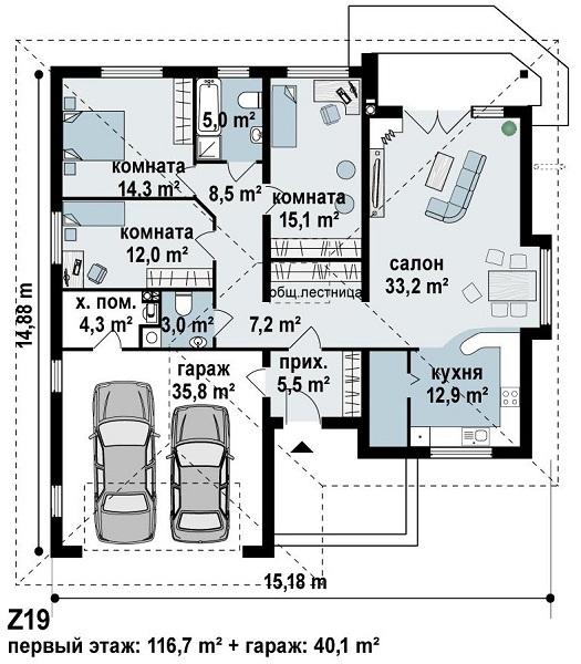 Проекты каркасных домов с гаражом чертежи и фото