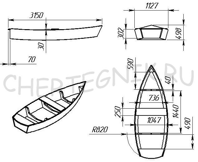 Лодку своими руками чертеж фото