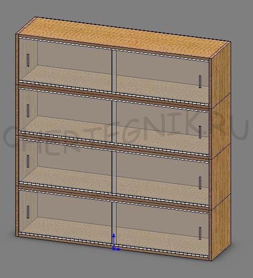 Встроенный шкаф своими руками чертеж