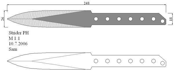 Метательные ножи своими руками с размерами