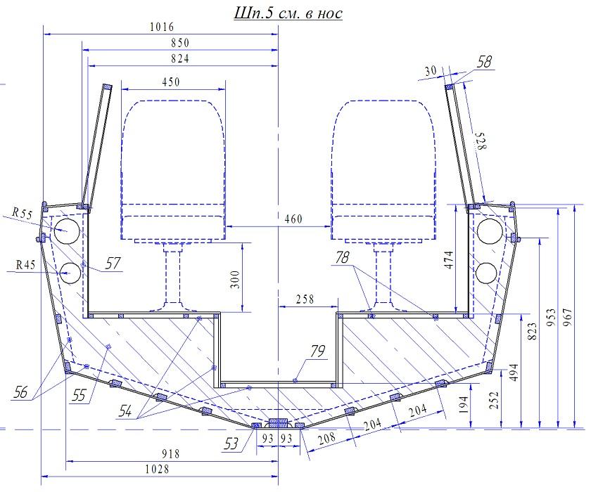 чертежи матриц для лодки