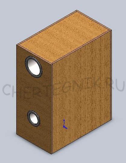 Чертежи сабвуферов.  Конструкция, коробка корпуса и схема изготовления сабвуфера.