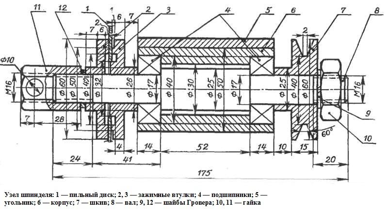 Чертеж деревообрабатывающего станка своими руками 193
