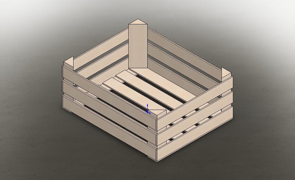 Чертеж ящика.  Деревянный ящик своими руками, схема сборки.