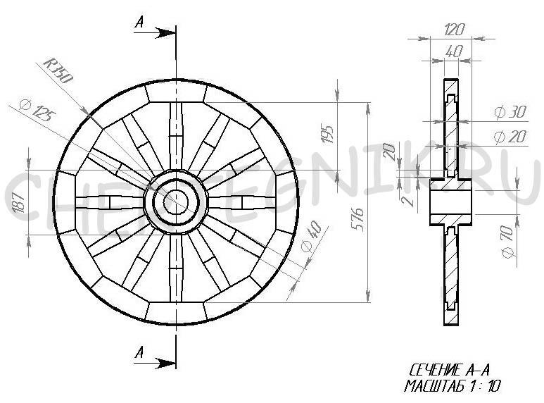 Деревянное колесо своими руками 52