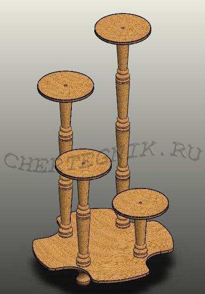 Подставки из дерева чертежи