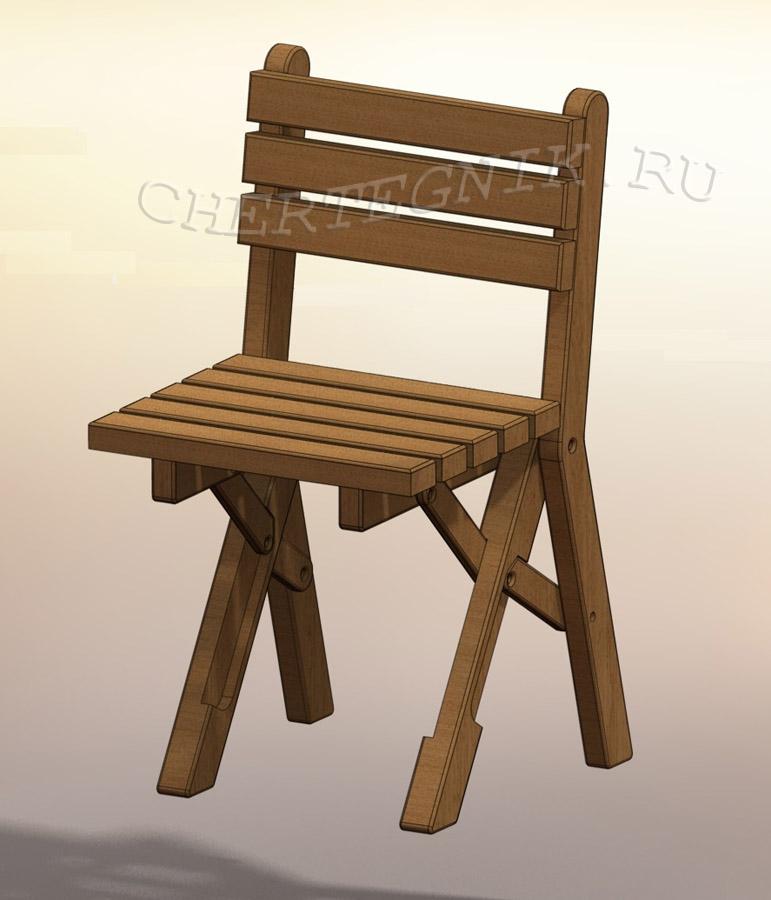 Чертеж стульчик детский