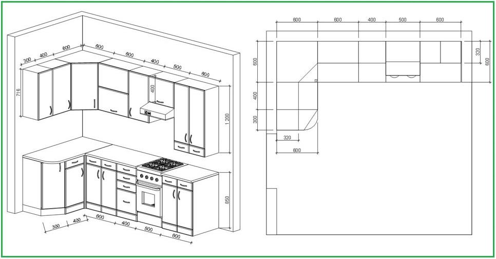 Мебель в кухню своими руками чертежи фото