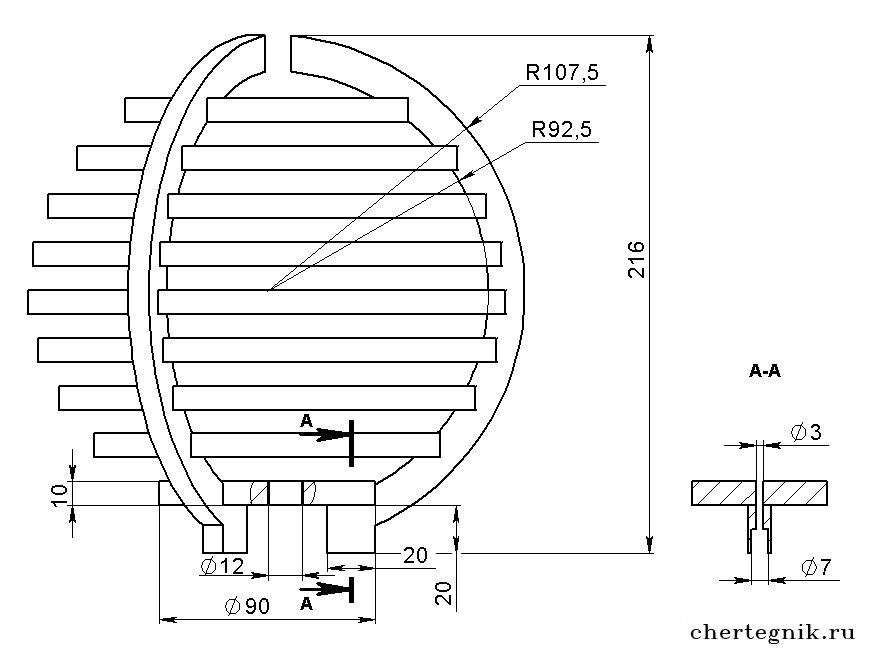 Светильник настольный UNIEL (9405 ) TLI-222, цена 6,21 руб