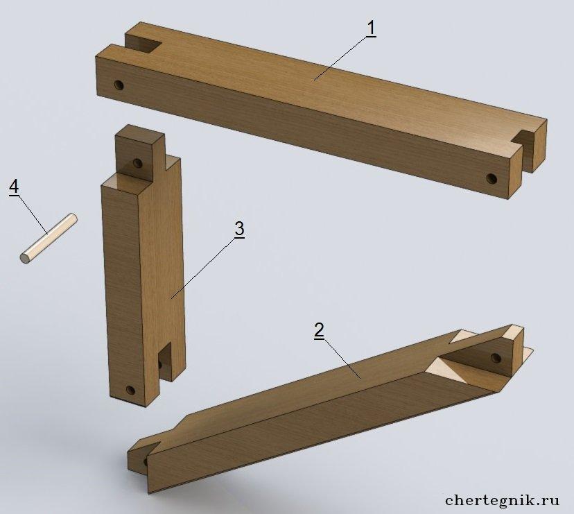 Делаем скамейку из дерева в баню своими руками - чертежи 71