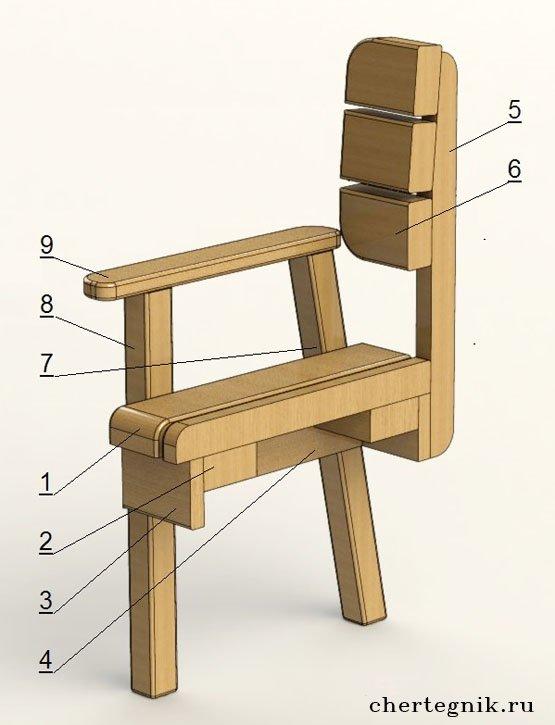 Кресло садовое своими руками из дерева фото чертежи и ход работы фото 498
