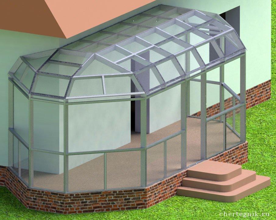 Односкатная крыша под поликарбонат своими руками 72