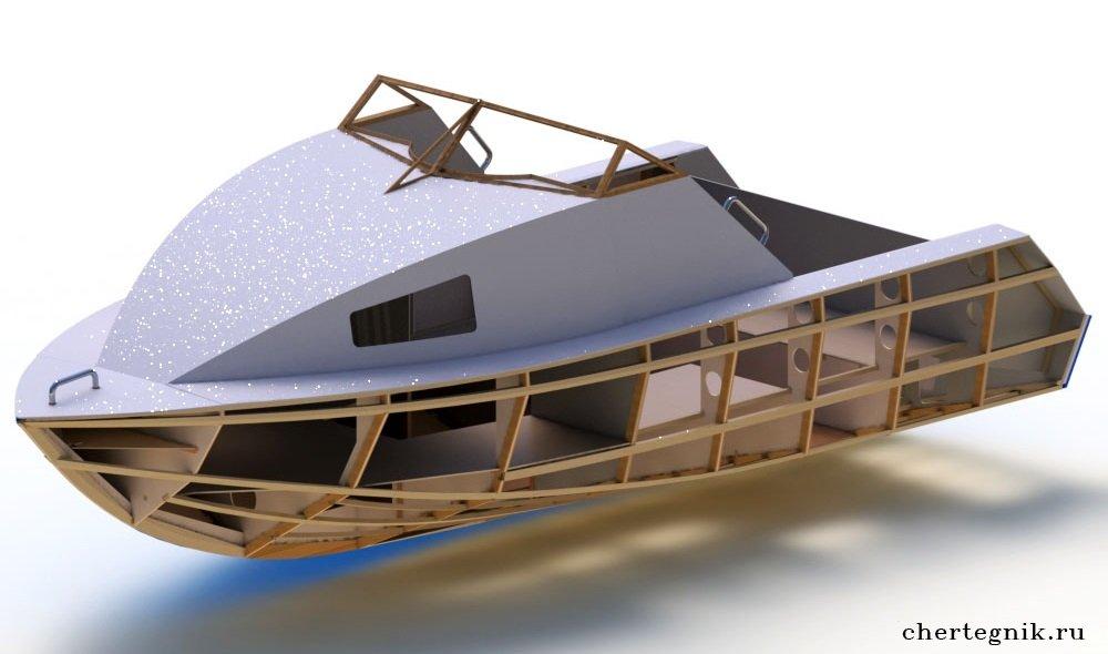 проекты моторных фанерных лодок