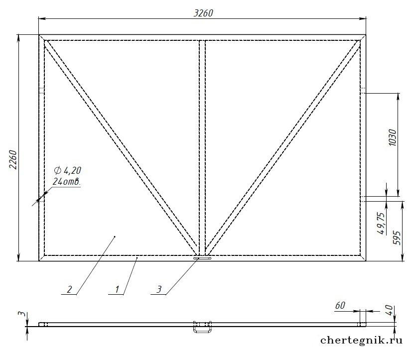 Подъемно поворотные ворота своими руками чертежи и фото 36