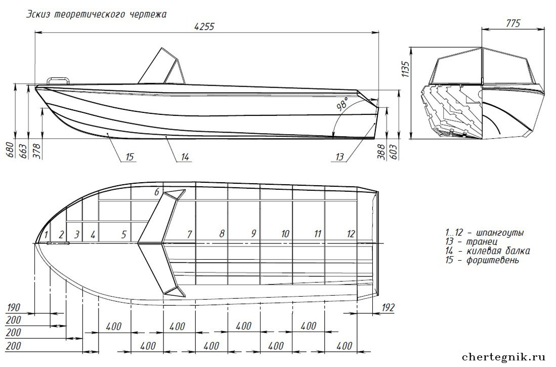Чертежи простых лодок своими руками 418