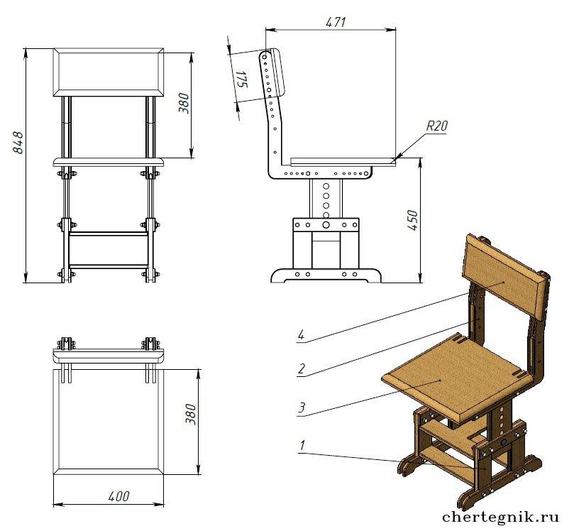 Изготовление детского стульчика своими руками 65