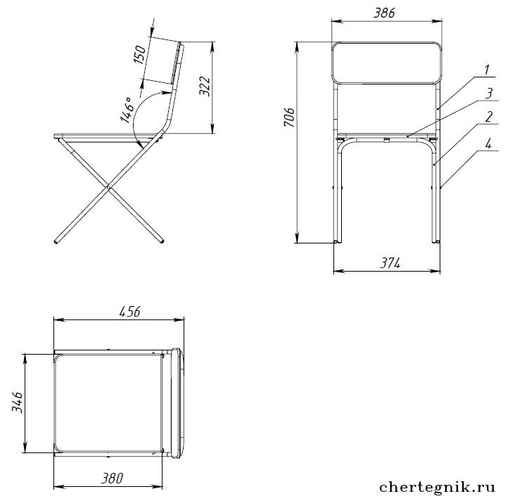 Как сделать раскладной стул для рыбалки своими руками чертежи 48