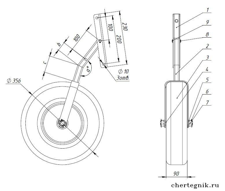 транцевые колеса своими руками чертежи видео