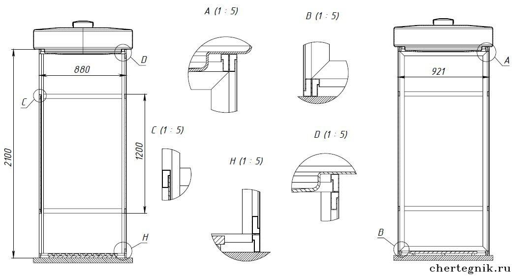 Как сделать летний душ для дачи чертежи 956